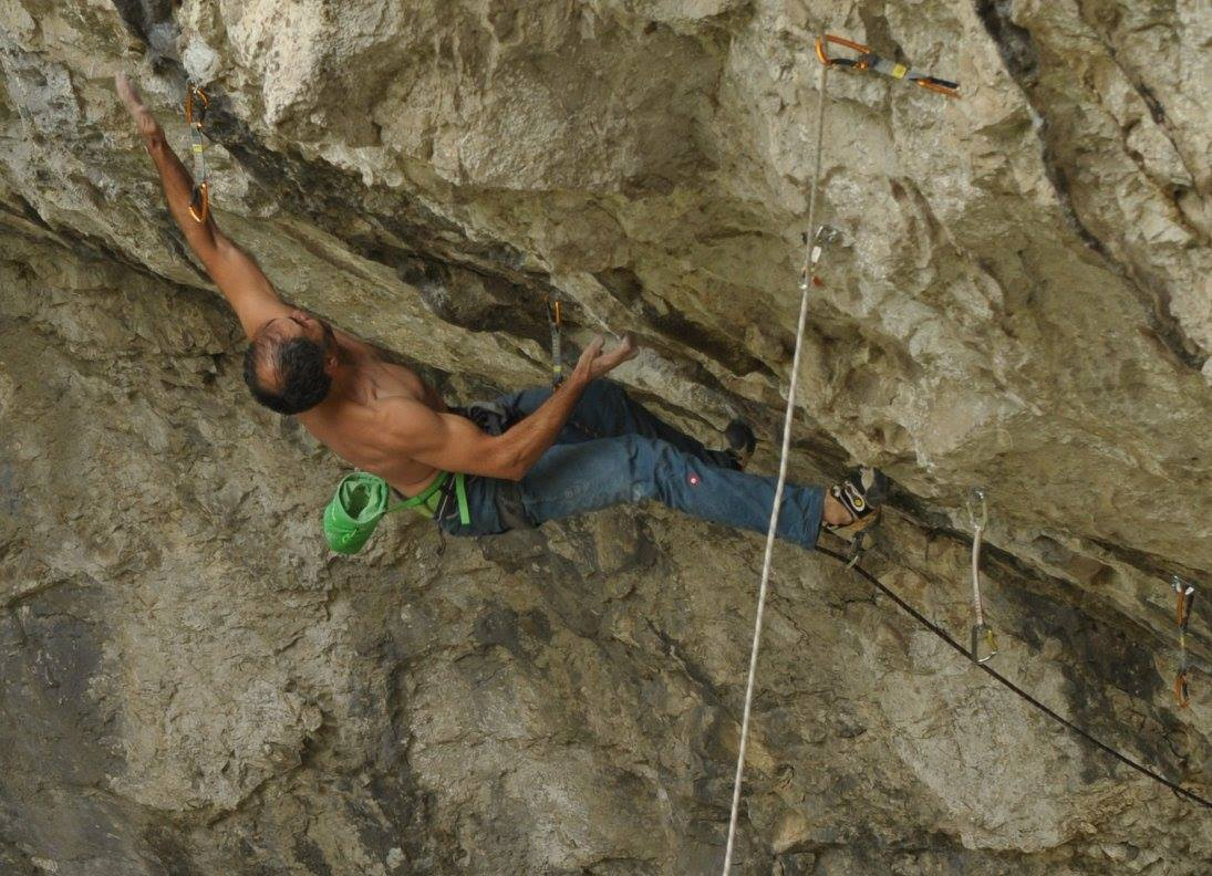 Oliver Batar in Drepna project (8b/+?)