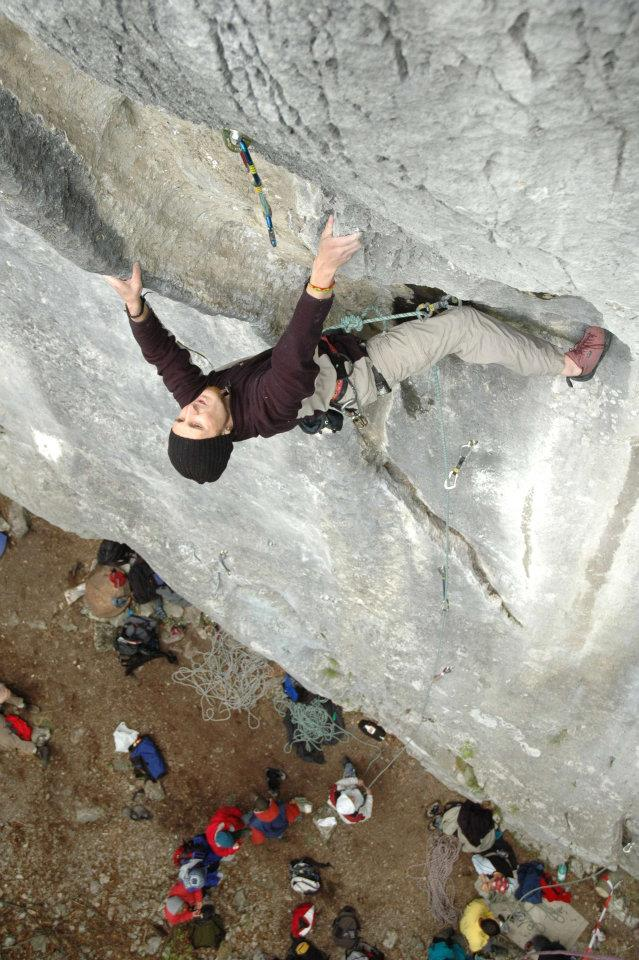Climber in Carstic - 7a+