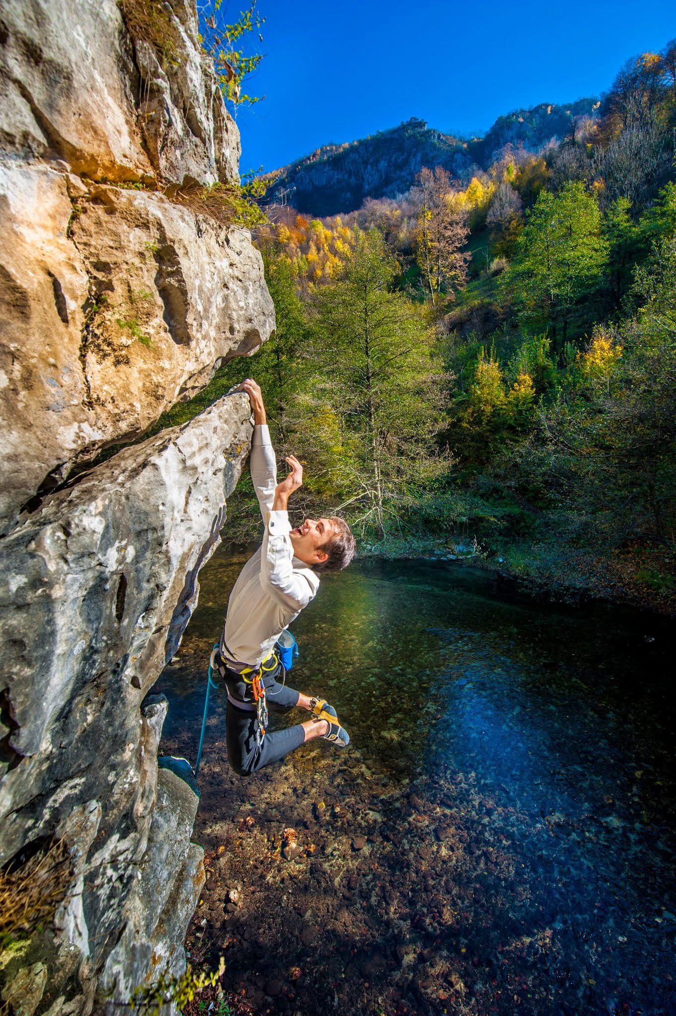 Climbing at the river