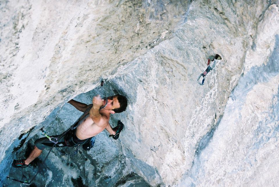 George Stroie in Feets Crux 7a+